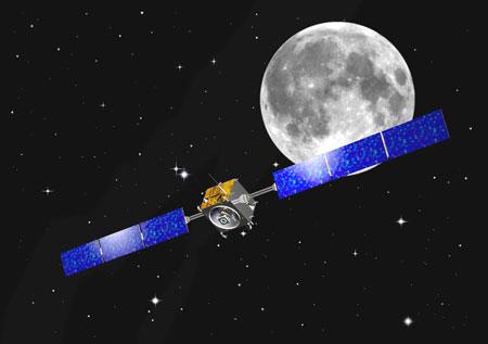 科技时代_组图:欧洲SMART-1号探测器探月模拟图