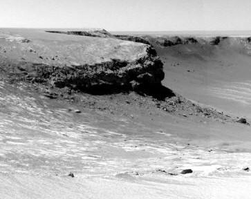 科技时代_机遇号拍下最大火星陨石坑(图)