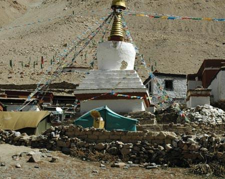 科技时代_图文:距珠峰大本营仅9公里的绒布寺