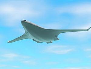 科技时代_美英研制无声飞机 机身机翼合为一体(组图)