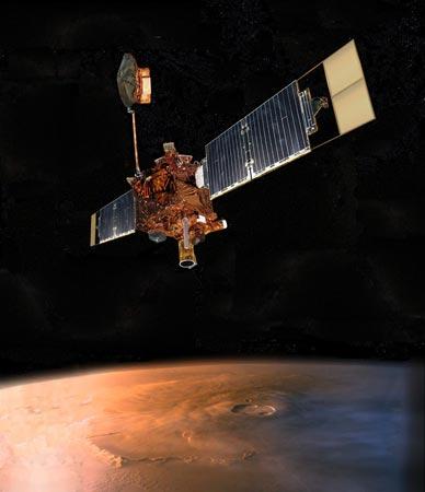 科技时代_美国火星环球探测者太空船与地球失去联系