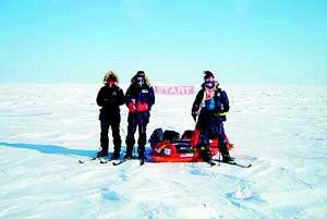 科技时代_人类首次徒步到达南极中心(图)