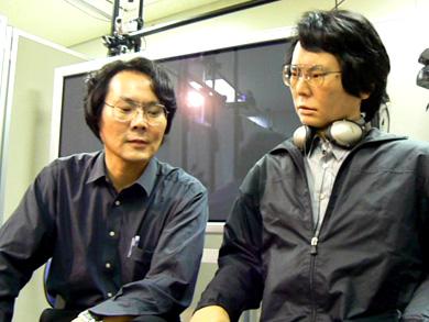 科技时代_日本推机器人替身貌似双胞胎真假难辨(图)
