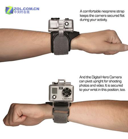 绑在手臂上拍超强运动相机及样片欣赏