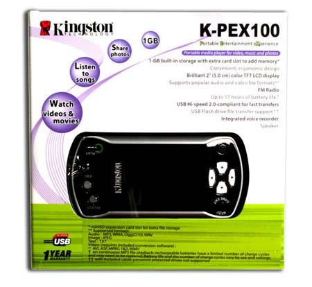 正式进驻MP4市场金士顿K-PEX100亮相