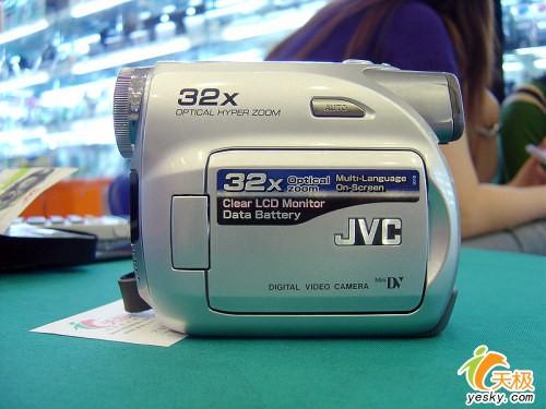 入门级大变焦DVJVC摄像机D350降两百