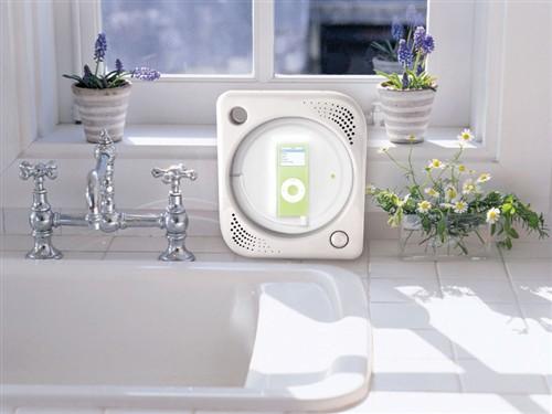 随身听防水伴侣让你边洗澡边听iPod