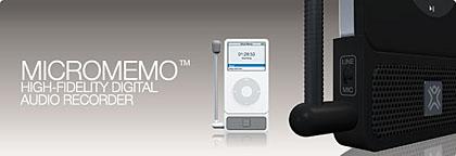 想录就录XtremeMac新品iPod附件MicroMemo
