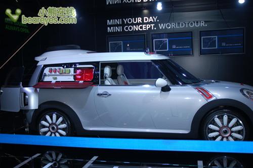 06北京国际车展宝马展示新款mini轿车