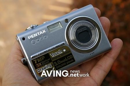 手写大屏DC宾得数码相机新品T20真机酷图