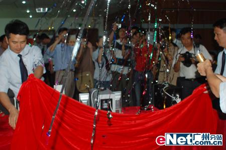 2006奋达音响新品新闻发布会现场