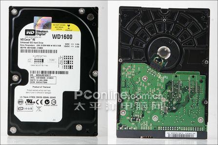 企业级的IDE硬盘西数高性价WD1600SB测试