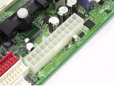 图4,k8主板上的24pin电源接口