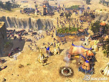 帝国时代3 酋长 最新游戏画面欣赏