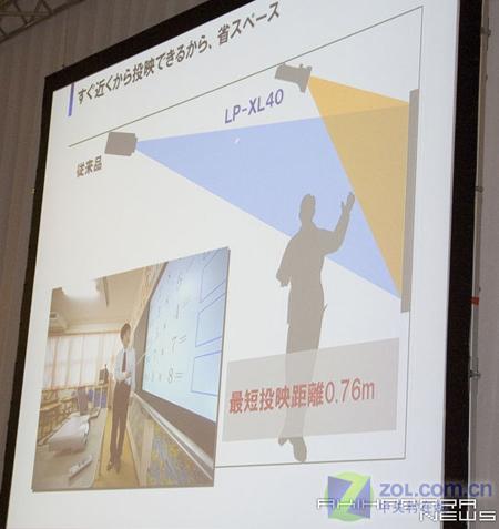 三洋超短焦投影1米可看80英寸画面