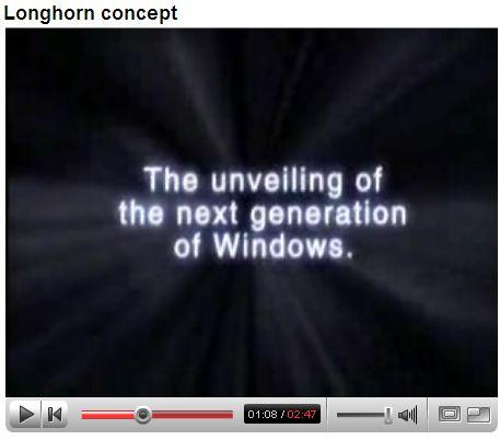 Vista的遗憾:未达Longhorn一半概念!