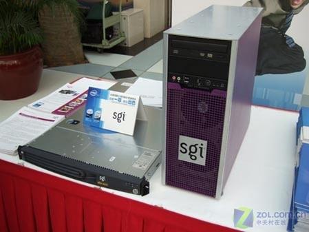 四核发布现场:sgi同时推出新款台式机和服务器