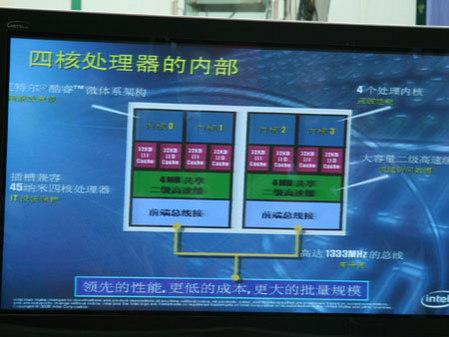 英特尔四核处理器内部结构曝光(图)