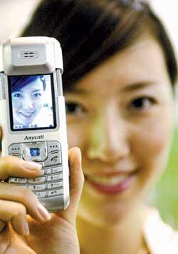 科技时代_第八届科博会产品展示:500万像素手机(图)