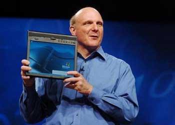 科技时代_微软CEO鲍尔默为联想首款ThinkPad捧场(图)