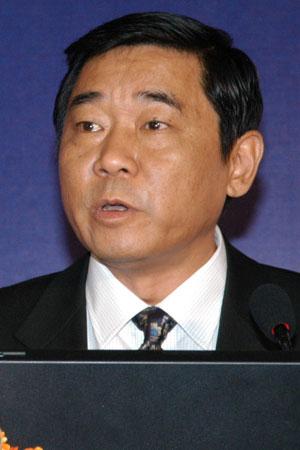 图文:湖北省信息产业厅厅长张洪做主题演讲