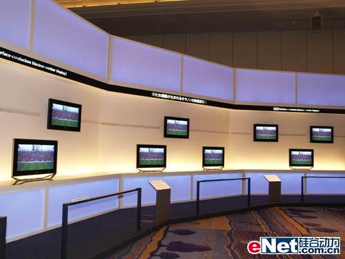 东芝展示55寸sed电视机原型 竞争lcd前途未卜