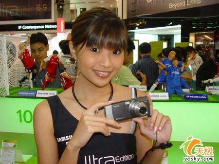亚洲电信展三星展台美女靓过手机