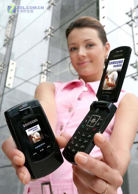 200万想素三星新款超薄HSDPA手机Z560