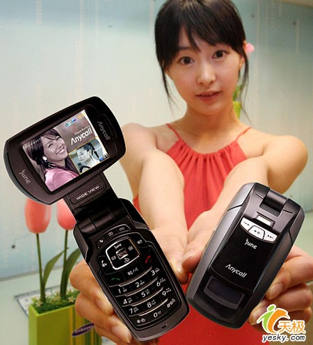 手机上看电视三星发布旋屏PIP手机B470