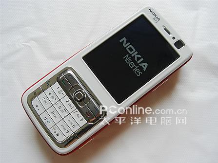 红色的靓丽诺基亚智能手机N73售价3780