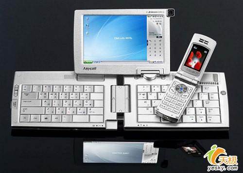 5英寸屏30G微硬盘三星推出超强PDA手机