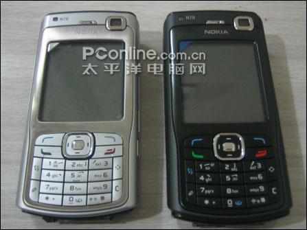 智能音乐诺基亚N70全黑版配1G卡售价2680