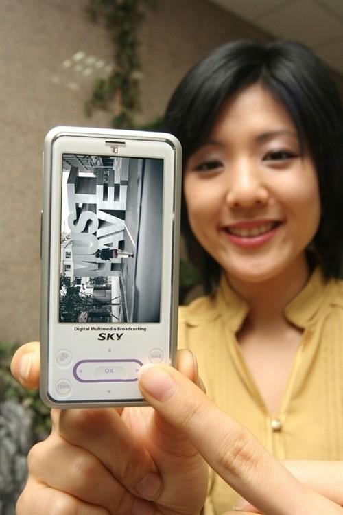 内存184MB泛泰发布宽屏DMB手机U160