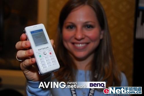 CES07美国网件展示Skype型WiFi电话
