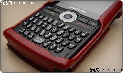 三星智能机添红妆精美手机真皮外套