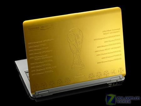 金色浮雕外壳东芝世界杯纪念版笔记本