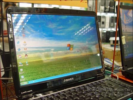 同方K100笔记本促销送三星彩屏手机!