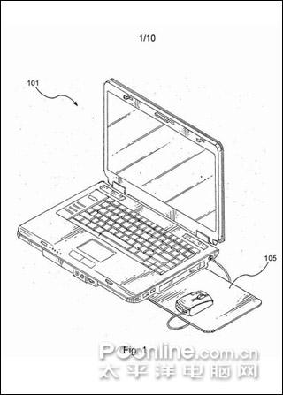 集成鼠标垫的笔记本电脑,国外网友创意设计图片