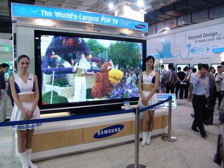 科技时代_图文:目前全球最大的PDP电视新品