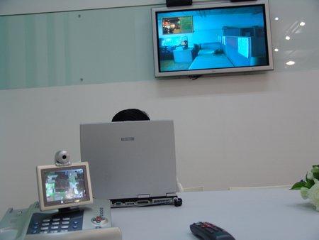 科技时代_图文:网通展示可视电话业务