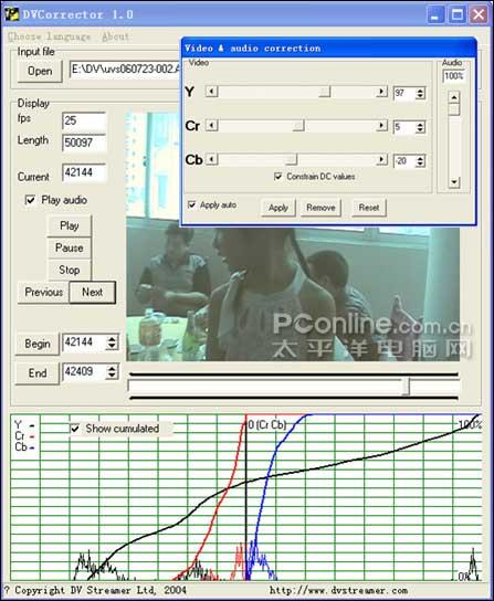 DV玩家必备快速无损调整视频亮度和色彩