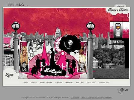 佳作赏析:Converse与LG网页界面设计(2)
