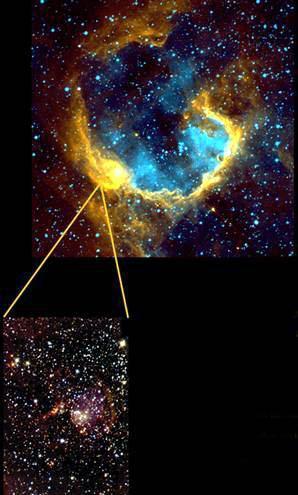 天文学家发现巨型恒星诞生触发机制(组图)