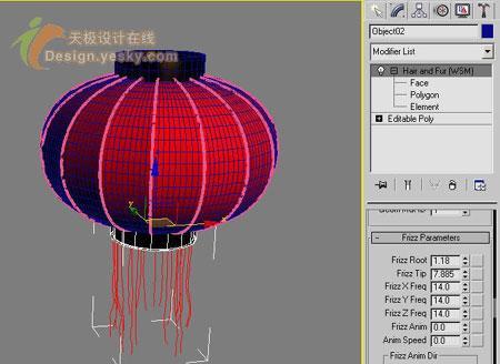 春节添喜庆 3dsmax绘制立体大红灯笼(6)