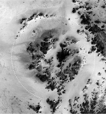 撒哈拉大沙漠发现直径长达31公里陨石坑(图)