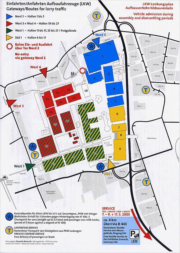 CeBIT展馆行驶线路图