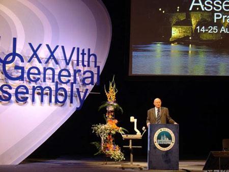 组图:国际天文学联合会代表大会开幕式现场