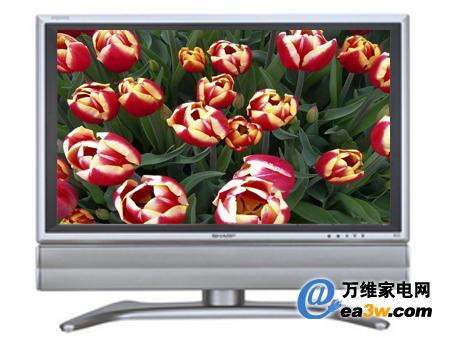 夏普 lcd-32ga6液晶电视秉承了夏普较传统的设计风格,采用钛合金