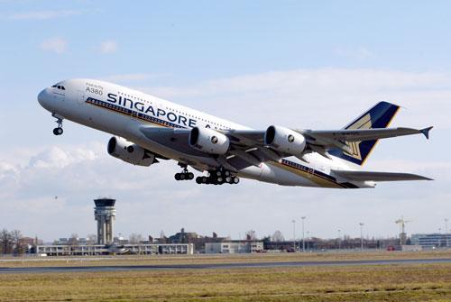 组图:空中客车a380飞机空中飞行