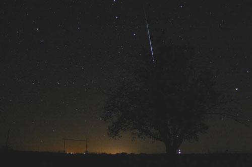 组图:2004年美国德克萨斯州拍摄的双子座流星